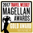 Travel Weekly Magellan Award placard